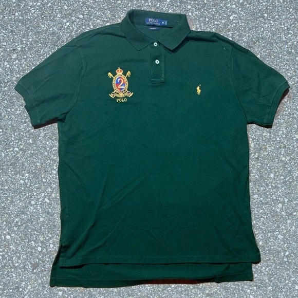 Badge Lauren Shirt Embroidered Ralph Polo Vintage xtsQCBhdr